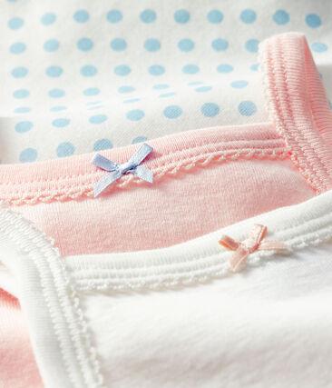 Trio de bodies à bretelles bébé fille lot .