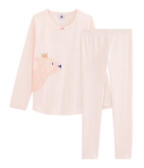 Pyjama petite fille en côte FLEUR