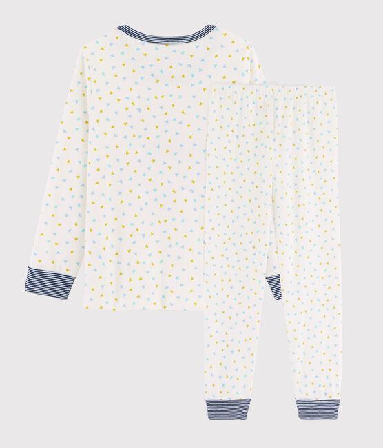 Pyjama enfant à motif tigre en côte blanc Marshmallow / blanc Multico