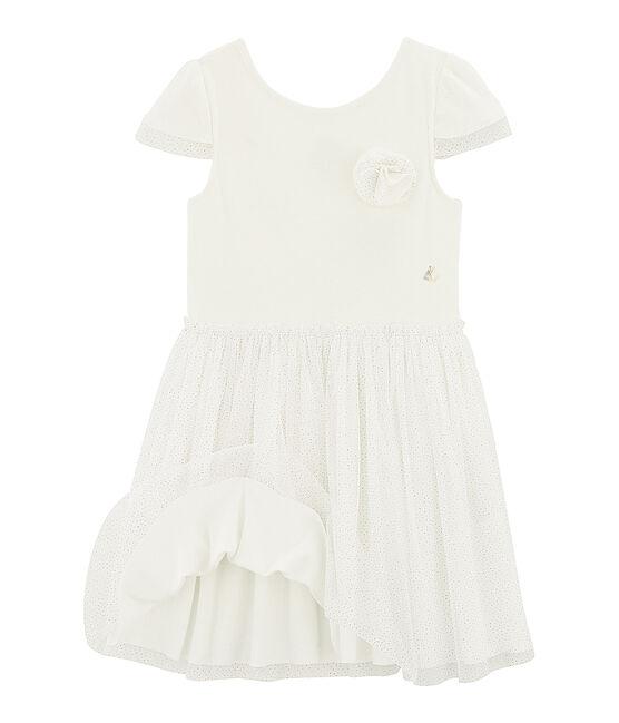Robe de cérémonie enfant fille blanc Marshmallow