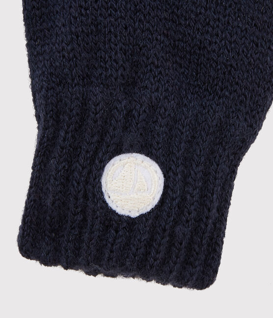 Gants en tricot enfant garçon - fille bleu Smoking
