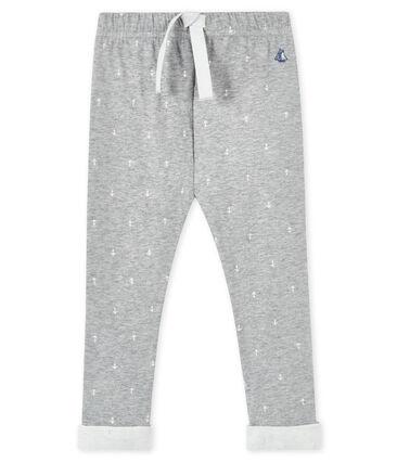 Pantalon bébé garçon gris Subway / blanc Marshmallow