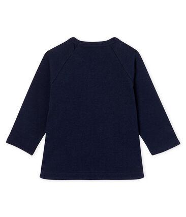 Tee shirt manches longues bébé fille bleu Smoking