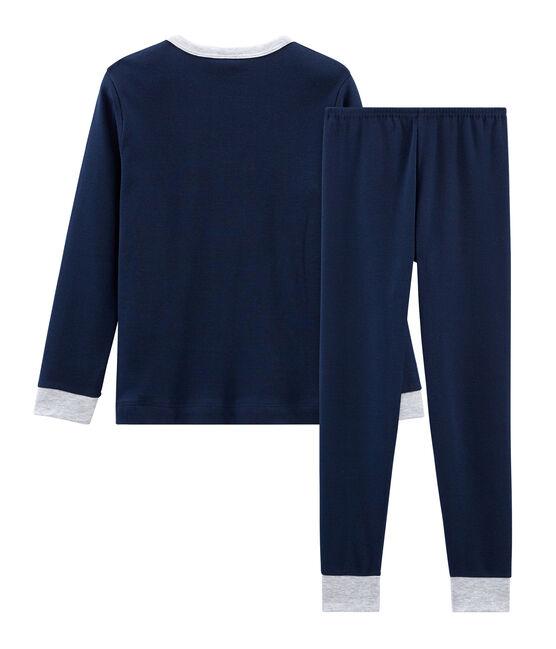 Pyjama petit garçon en côte bleu Haddock