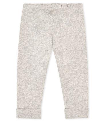 Pantalon bébé fille -garçon en maille gris Beluga