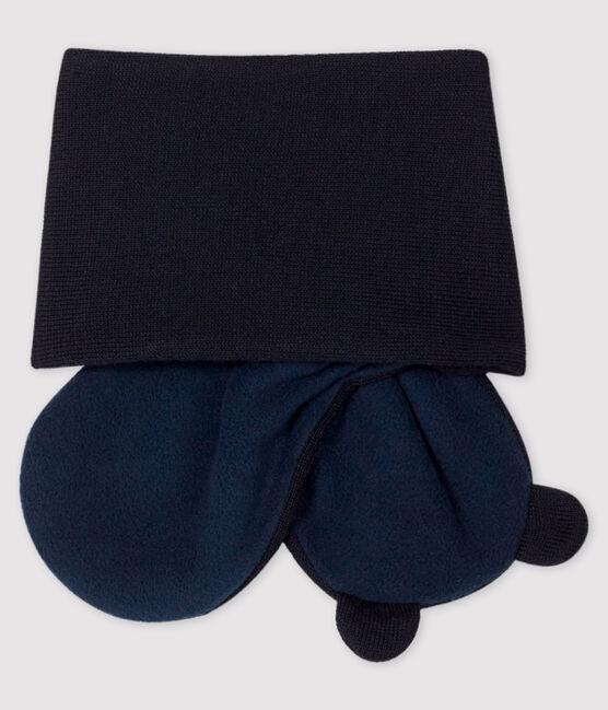 Echarpe bébé doublée micropolaire bleu Smoking