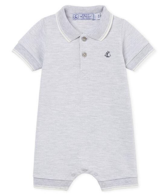 Combicourt polo bébé garçon gris Poussiere Chine