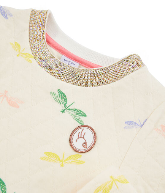 Robe enfant fille beige Coquille / blanc Multico