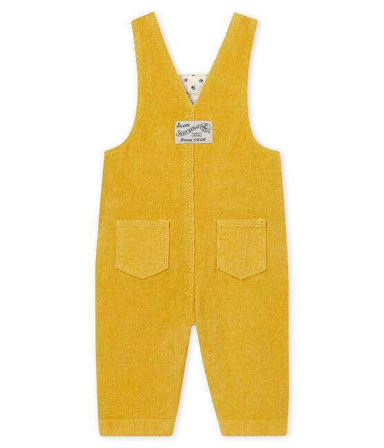 Salopette en velours bébé garçon jaune Ocre