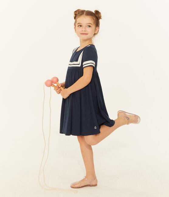 Robe enfant fille bleu Haddock