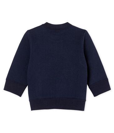 Sweatshirt bébé garçon en molleton bleu Smoking Cn