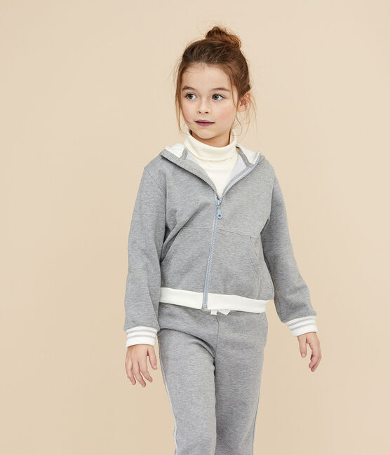 Sweatshirt à capuche enfant fille gris Subway