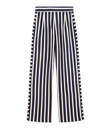 Pantalon femme bleu Haddock / blanc Marshmallow