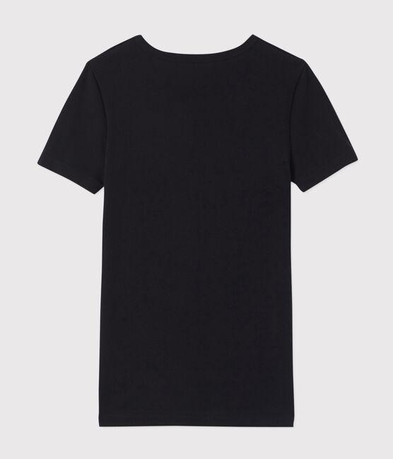 T-shirt manches courtes col V Homme noir Noir