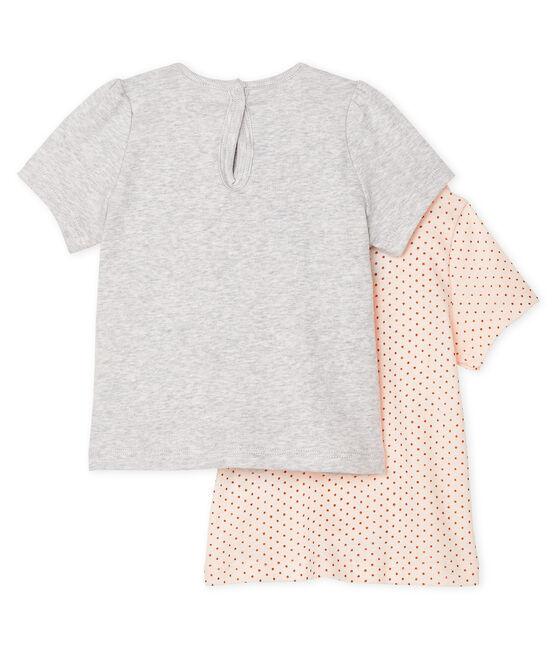 Lot de 2 tee-shirts bébé fille lot .