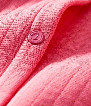 Cardigan bébé fille en tubique matelassé rose Cupcake