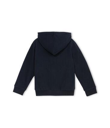 Sweat shirt zippé en polaire bleu Abysse