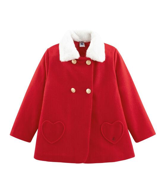 Manteau enfant fille rouge Froufrou