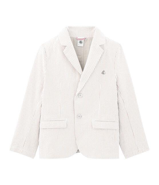 Veste enfant garcon beige Beige / blanc Marshmallow