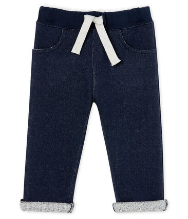 Pantalon bébé garçon en molleton bleu Smoking Cn