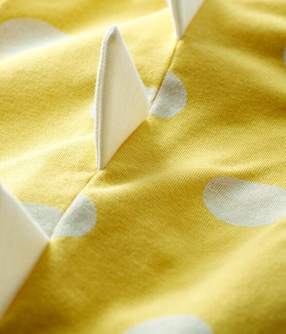 Combicourt dinosaure bébé en côte jaune Ble / blanc Ecume