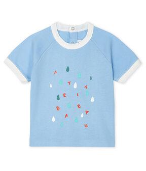 Tee-shirt manches courtes bébé garçon bleu Jasmin