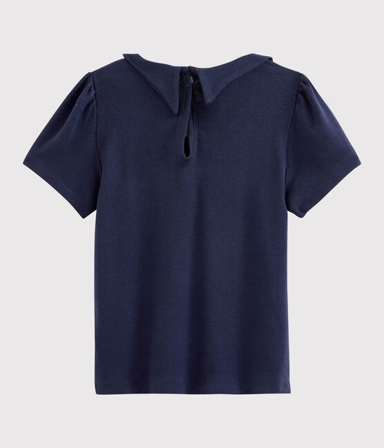 Tee-shirt col claudine enfant fille SMOKING