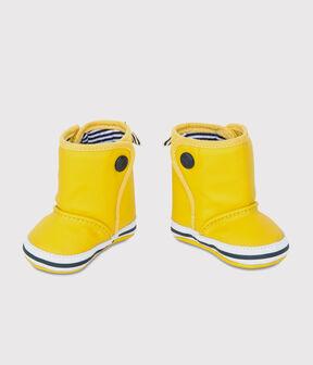 Chaussons bottes de pluie bébé jaune Jaune