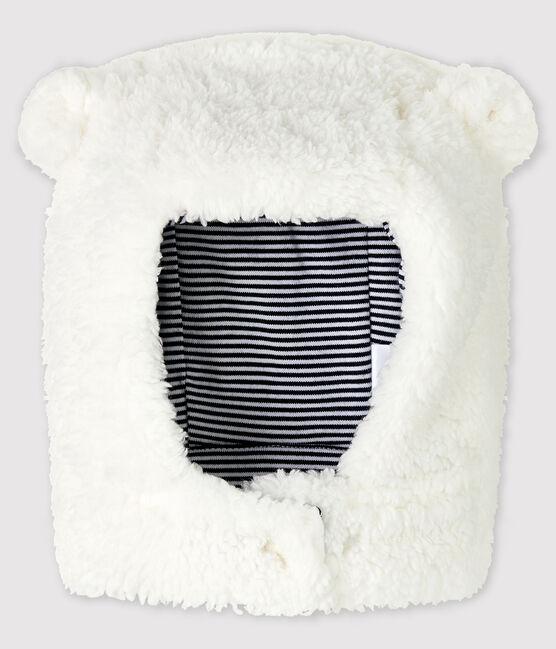 Bonnet en sherpa bébé fille/garçon blanc Marshmallow