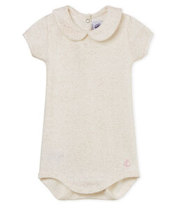 Body manches courtes col claudine brillant bébé fille