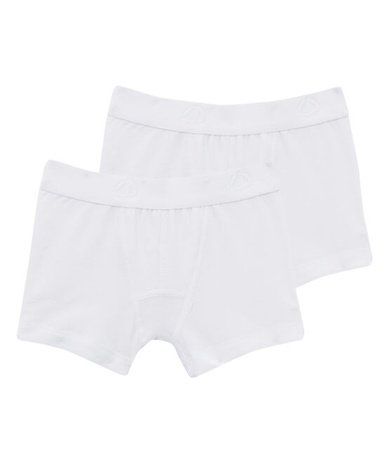 Lot de 2 boxers blancs garçon lot .