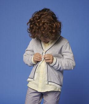Cardigan en coton jersey enfant garçon gris Poussiere Chine