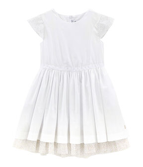 Robe de cérémonie enfant fille blanc Ecume
