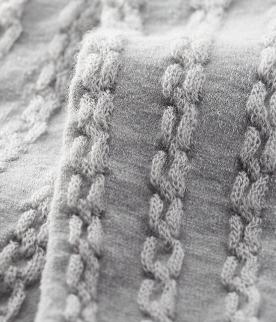 Collant en laine bébé fille gris Beluga