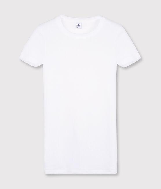 T-shirt iconique col rond Femme blanc Ecume