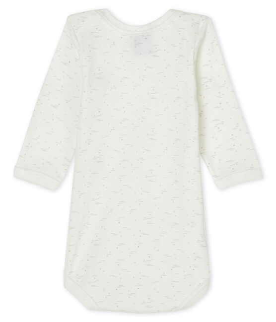 Body manches longues bébé blanc Marshmallow / blanc Multico