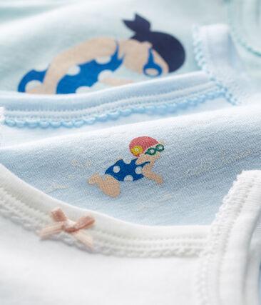 Trio de bodies à bretelles bébé fille