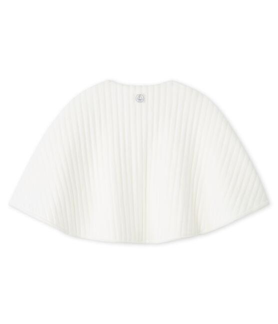 Cape bébé en tubique matelassé blanc Marshmallow