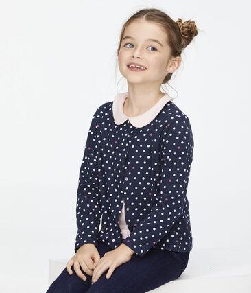 Cardigan enfant fille bleu Smoking / blanc Multico