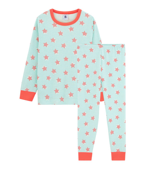 Pyjama enfant en côte blanc Marshmallow / blanc Multico