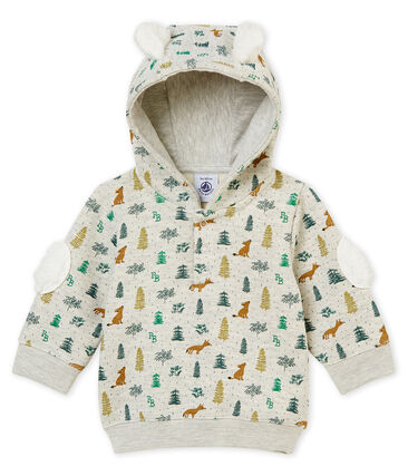 Sweatshirt à capuche bébé garçon imprimé