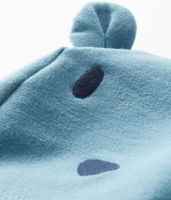 Bonnet bébé mixte en molleton élasthanne bleu Fontaine