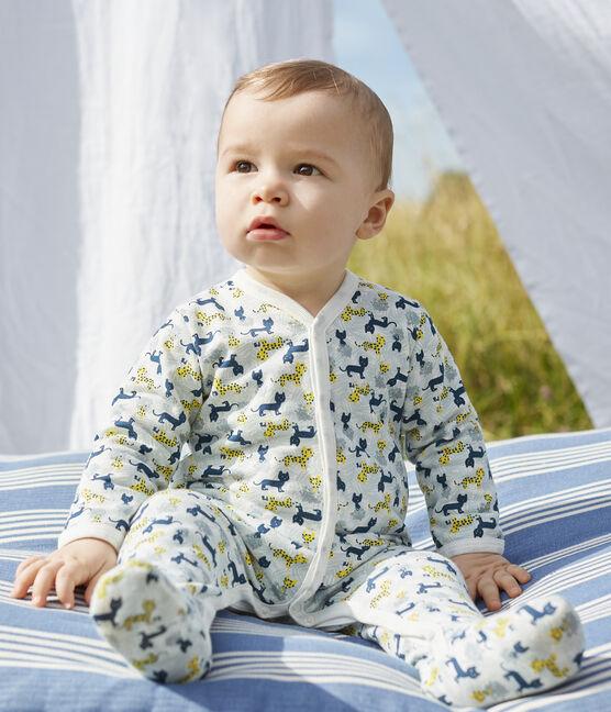Dors Bien bébé garçon en molleton blanc Marshmallow / blanc Multico