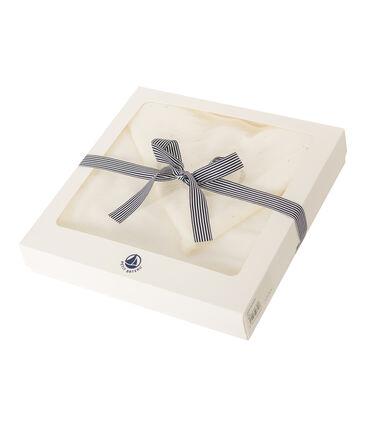 Cape de bain bébé en éponge blanc Marshmallow Cn