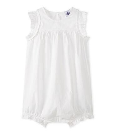 Combicourt bébé fille blanc Ecume
