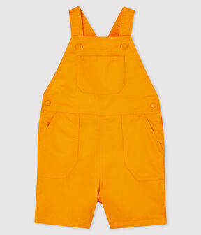 Salopette courte en serge craquante bébé garçon jaune Tehoni