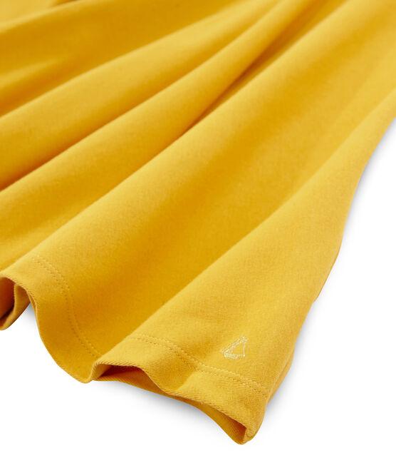 Robe manches courtes enfant fille jaune Boudor