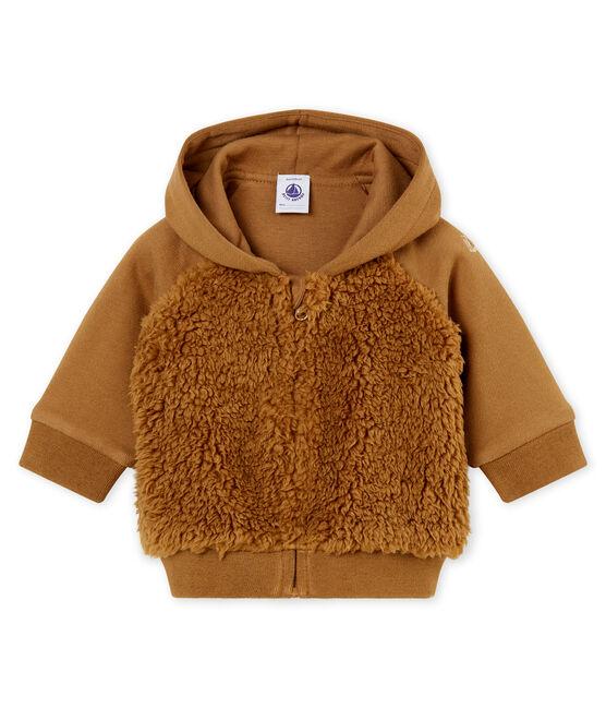 Sweatshirt à capuche bébé garçon en sherpa marron Brindille