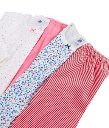 Duo de pyjamas petite fille en côte lot .