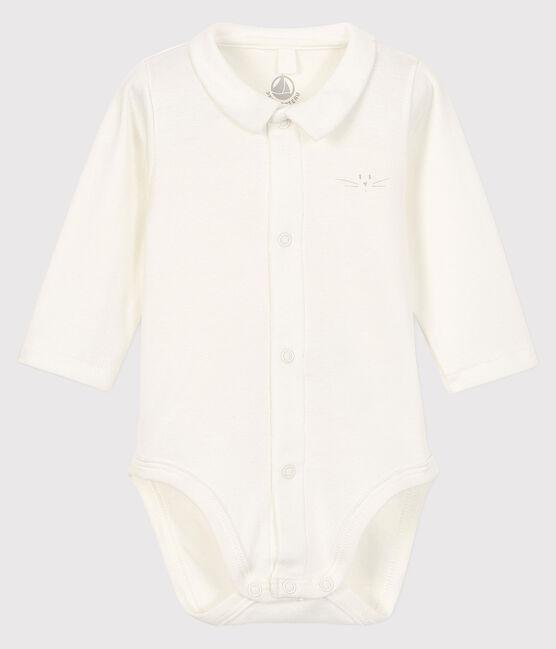 Body à col manches longues bébé garçon blanc Marshmallow